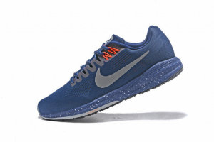 Nike Air Zoom Structure 21 Navy Blue Metal Silver