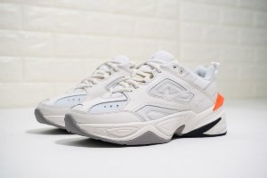 "Кроссовки Nike Air Monarch the M2K Tekno ""Matte Silver/Hyper Crimson"""