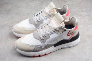 Кроссовки Adidas Nite Jogger 2019  White/Red-Grey