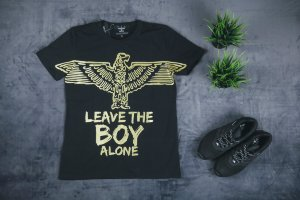 Футболка BOY LONDON black,with a golden eagle
