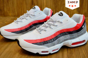 Кроссовки Nike AIR MAX 95 white/red/black/silver grey